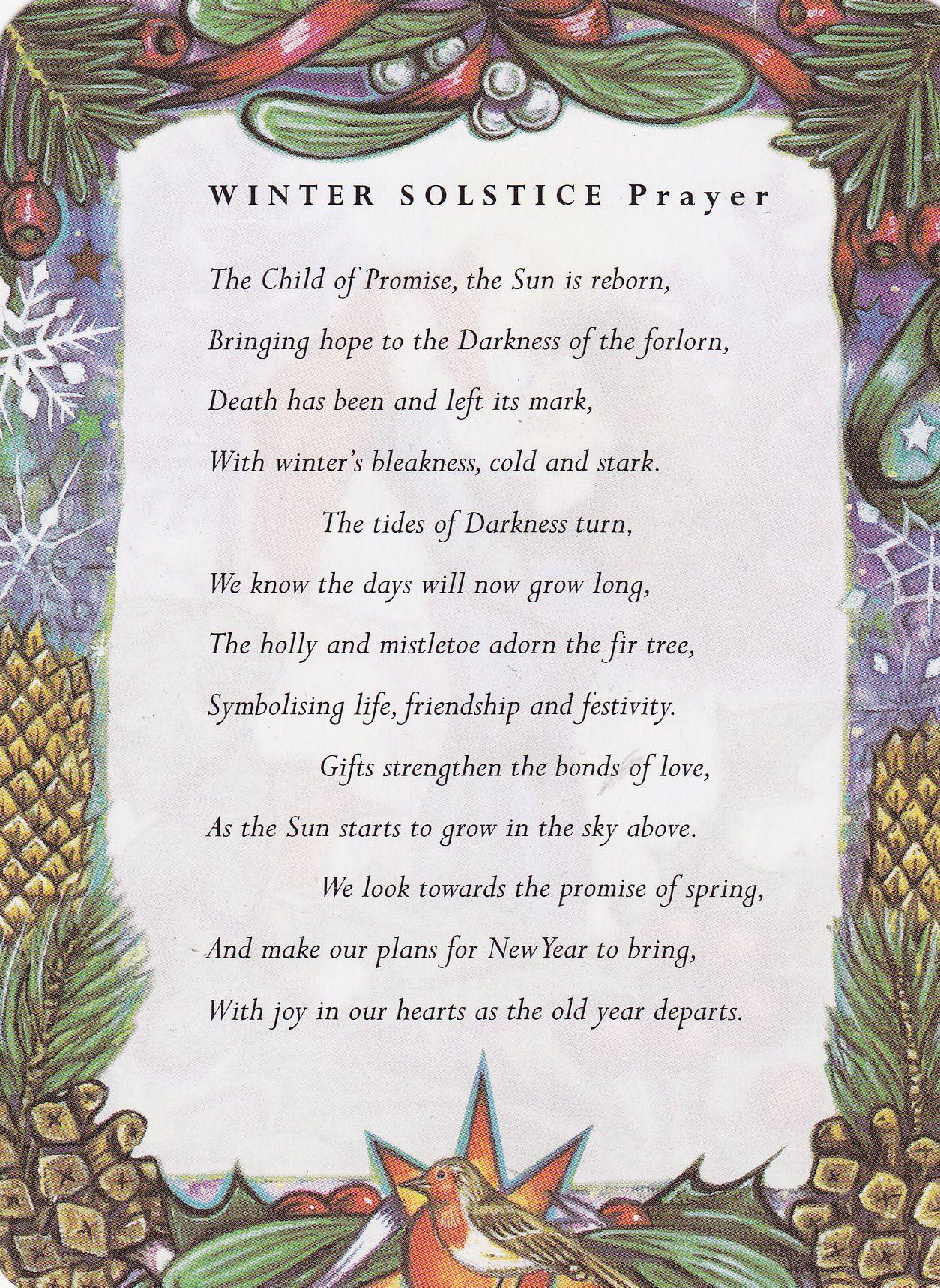 Winter Solstice Prayer Wintersonnenwende Heidnisches