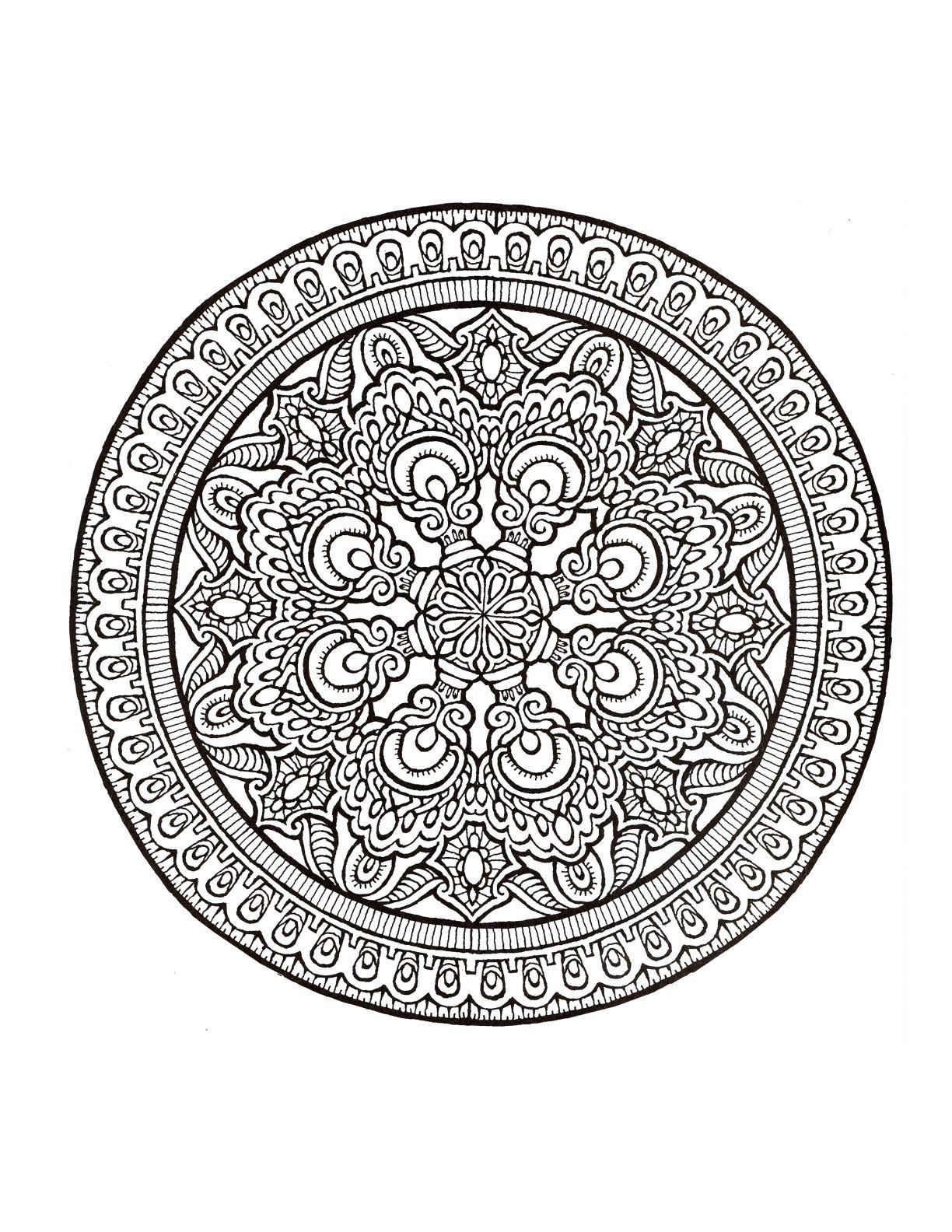 Mystical Mandala Coloring Book Dover Coloring