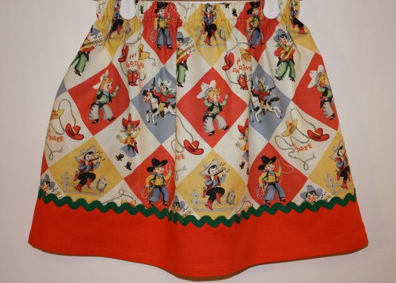 Cowgirl Skirt  Size 2  7 by bubblenbee on Etsy