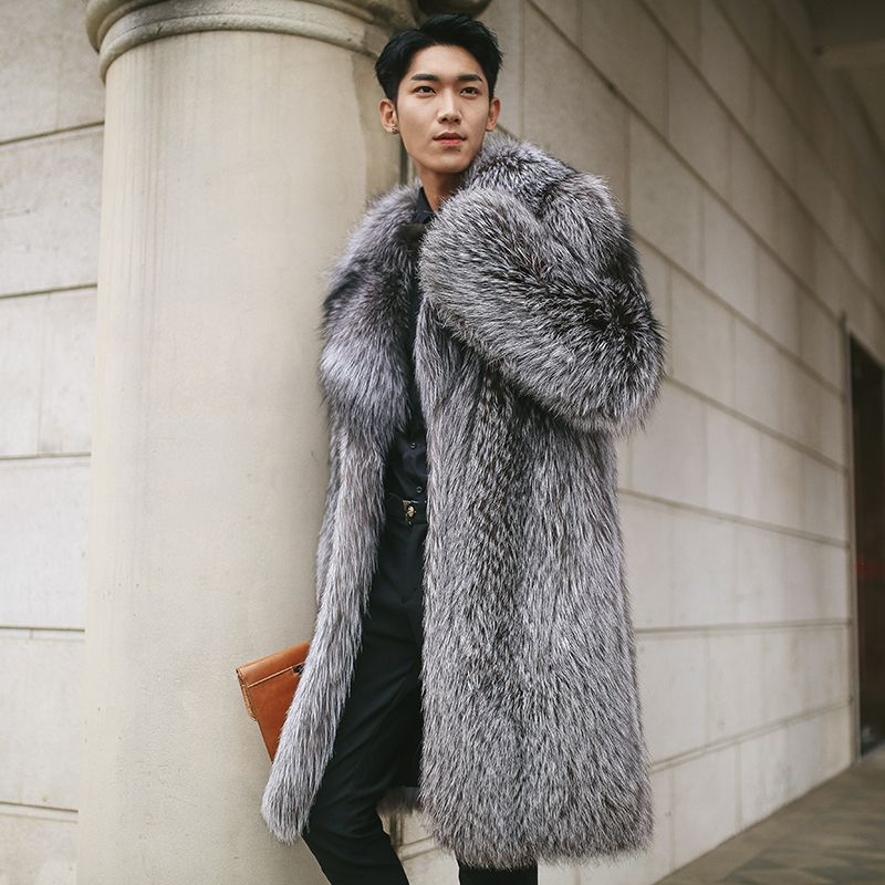 15e8d34680a06 Real fox fur coats for men natural fox fur top luxury fur jacket medium  long Russia winter high end New Phoenix 1117G-in Genuine Leather Coats from  Men s ...