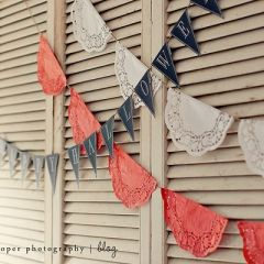 Great Banner Idea with doilies.
