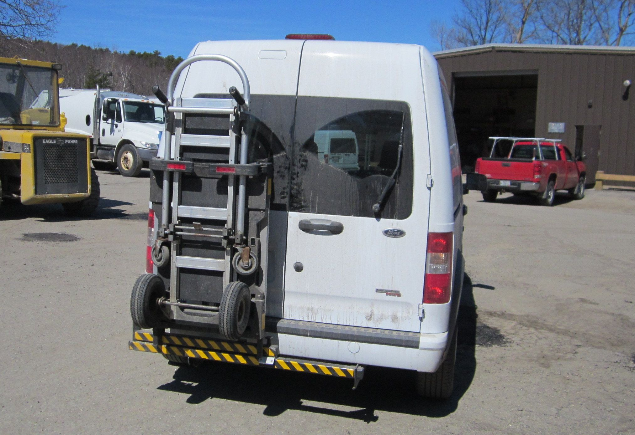 Ford Transit Connect Mini Cargo Van Equipment With Hts Systems Hts 20sft Ultra Rack Unit Wesco Cobra Jr Hand Truck Locked Trucks Hand Trucks Truck Transport
