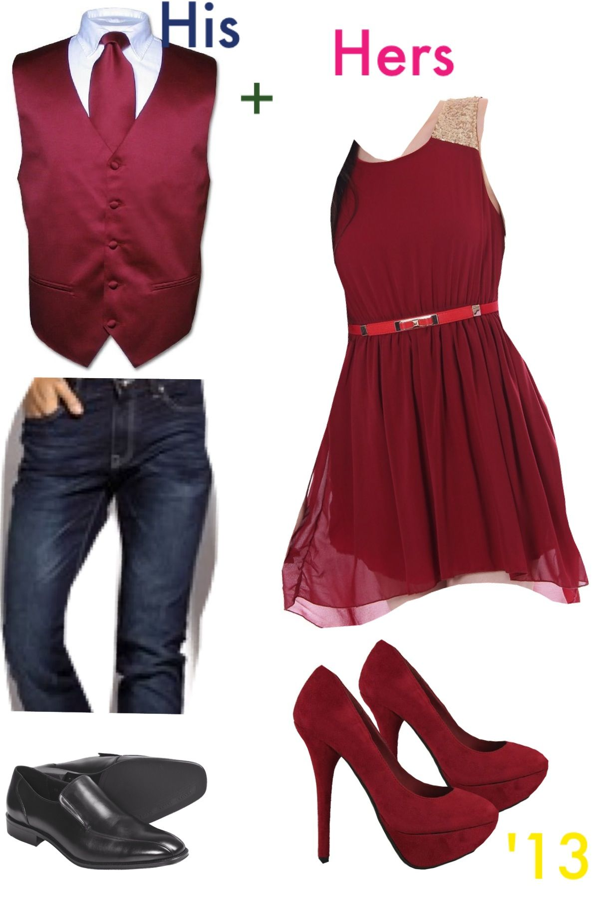 Formal Outfits For Couples Valentines Day Maybe Just A Red