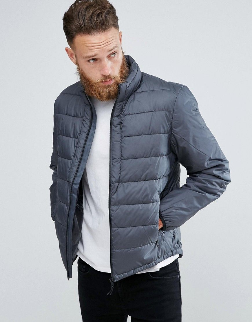 Mango Man Puffer Jacket In Gray Gray Puffer Jacket Outfit Grey Jacket Mens Quilted Jacket Men [ 1110 x 870 Pixel ]
