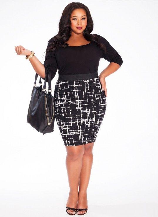 Olivia Plus Size Skirt In Lattice Noir Robes Pinterest Fashion