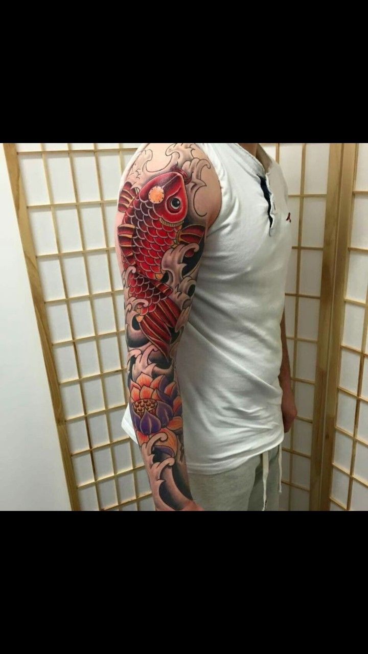 Mike S Koi Sleeve Chest Panel Unfinished Big Jpg 2400 3200: Pin By James Melville On Full Sleeve Tattoo Design James