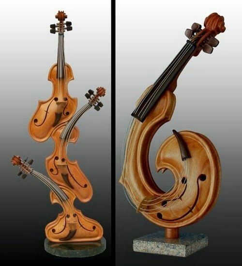 Far From Home... Instruments art, Music sculpture, Violin