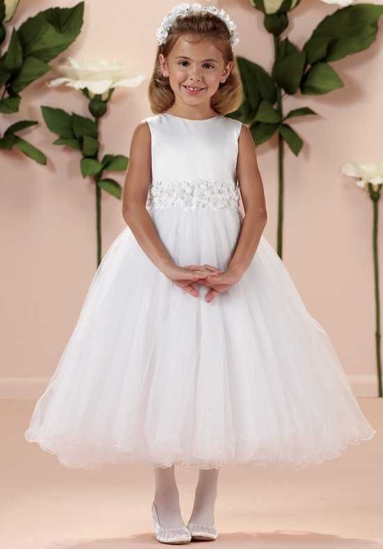 aff06152a56 Joan Calabrese by Mon Cheri 114349 Ivory Flower Girl Dress