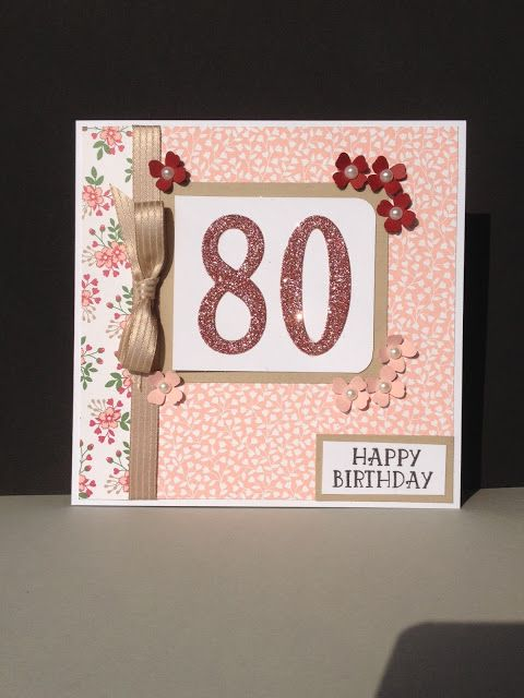 Eve Marie Makes 80th Birthday Card Using Stampin Up Large Number