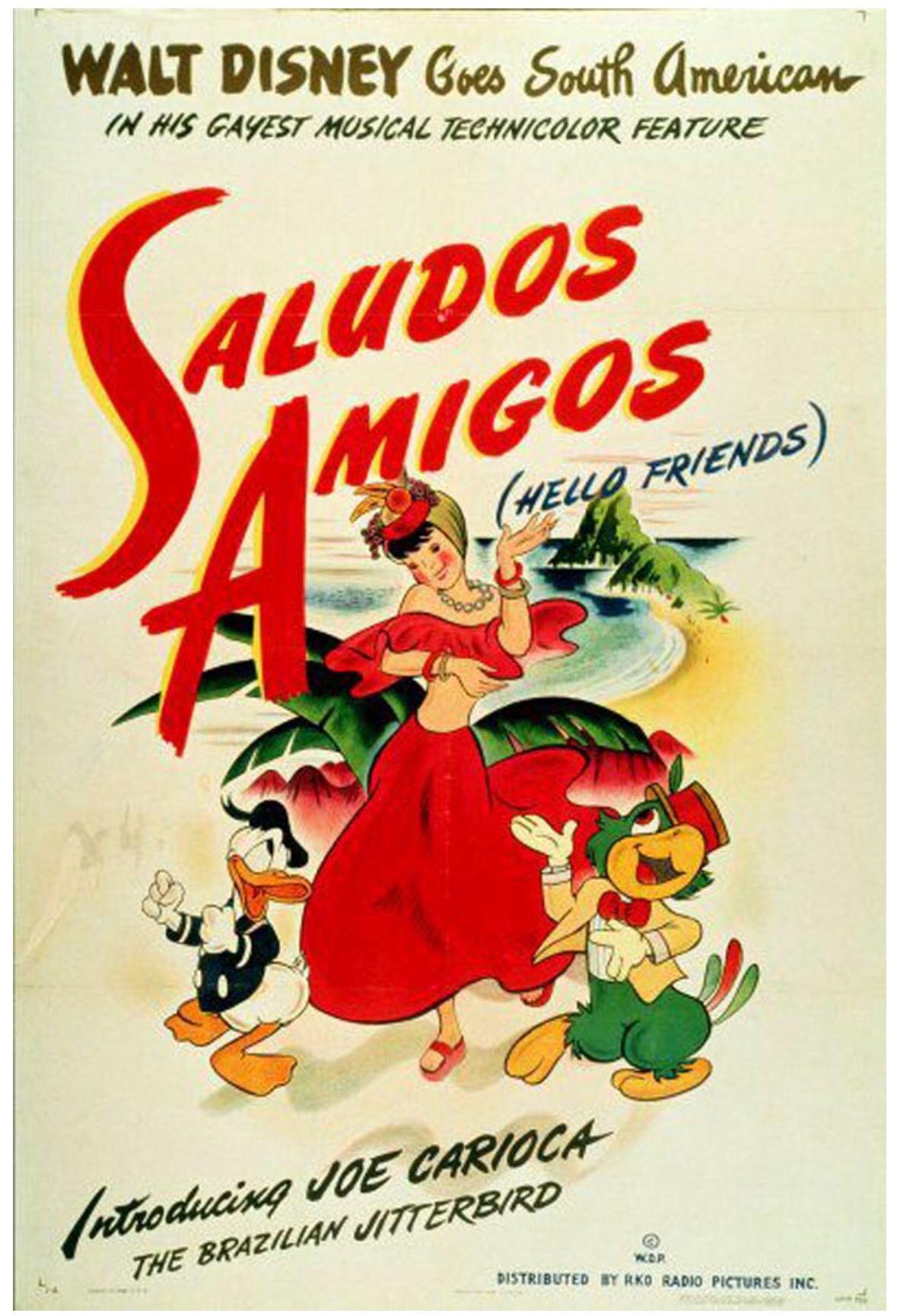Saludos Amigos Movie Poster Walt Disney Animated Movies Disney Animated Movies Disney Movie Posters