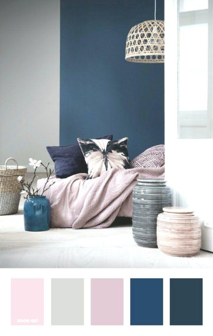 Marineblau Malvenfarbene Und Graue Farbpalette Farbinspiration