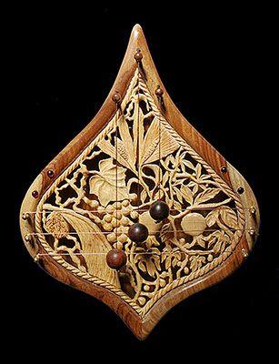 Jerusalem Door-Harp with hand carved 7 fruit of Israel #judaica & Jerusalem Door-Harp with hand carved 7 fruit of Israel #judaica ...