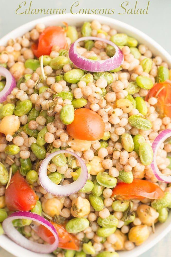 Edamame Couscous Salad