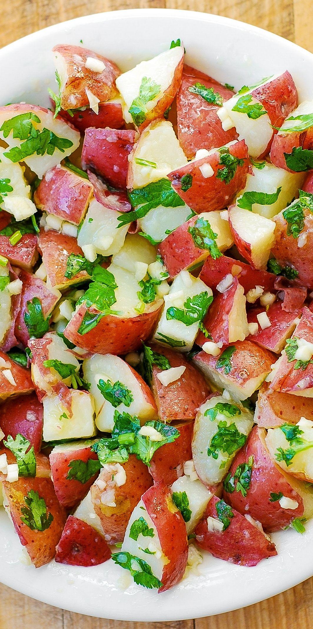 Cilantro Lime Potato Salad Olive Oil Freshly Squeezed