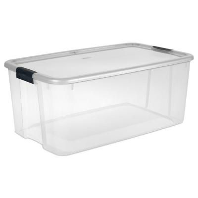 Sterilite 116 Qt Ultra Storage Box 19908604 The Home Depot Sterilite Large Storage Containers Plastic Box Storage