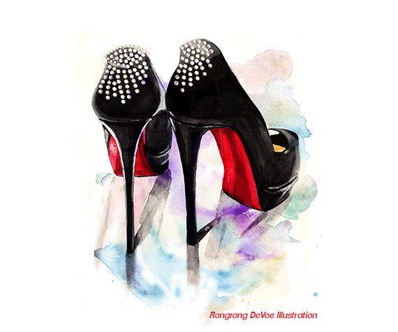 Christian Louboutin fashion print Shoes by ...