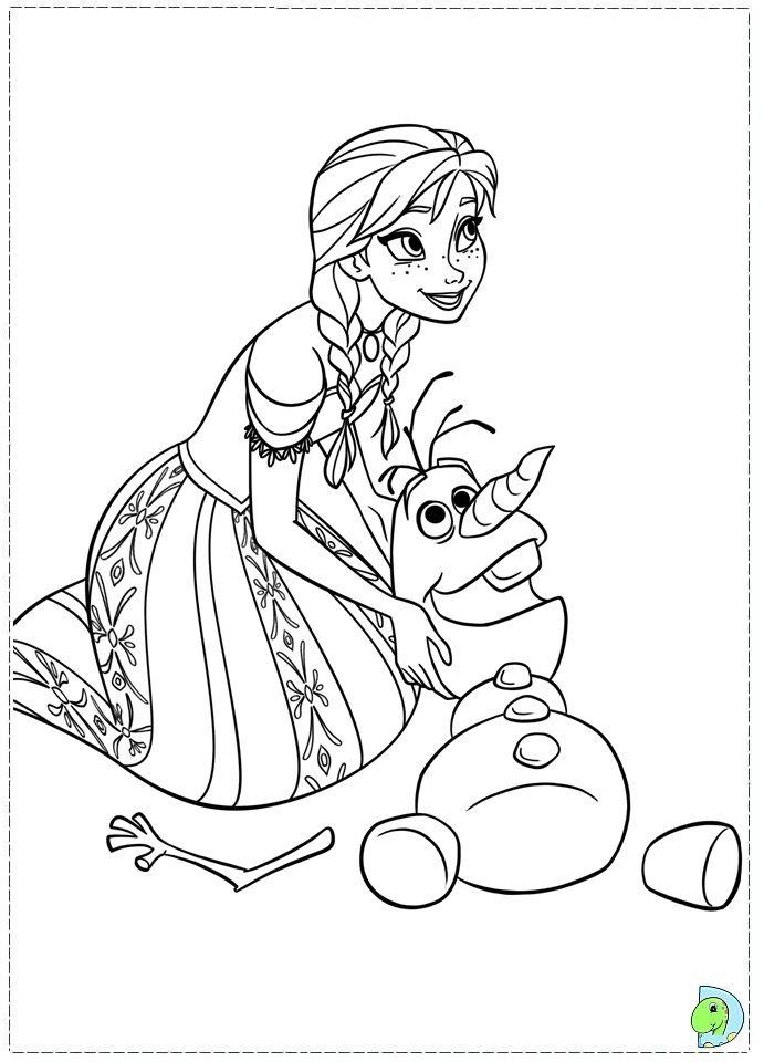 frozen coloring anna disney princess Rysunki
