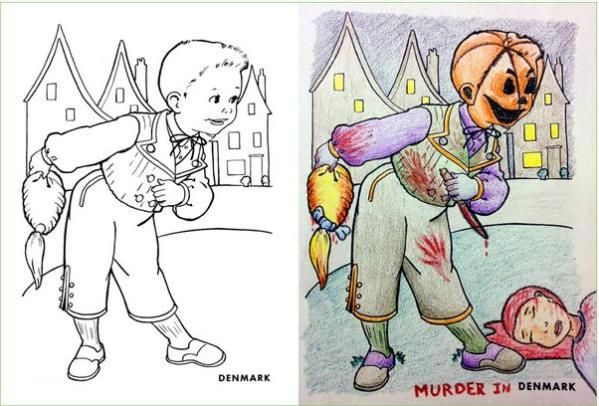- Creepy) Cringeworthy Coloring Book Corruptions - World-newzz Childrens Colouring  Book, Coloring Books, Kids Coloring Books