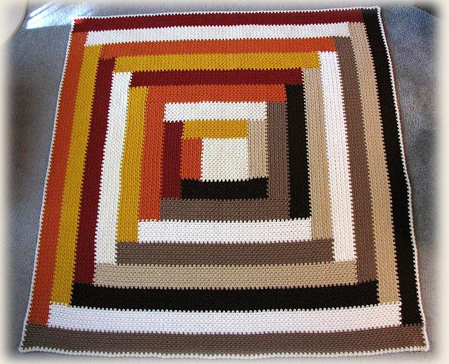Ravelry Project Gallery For Quilt Inspired Throw Pattern By