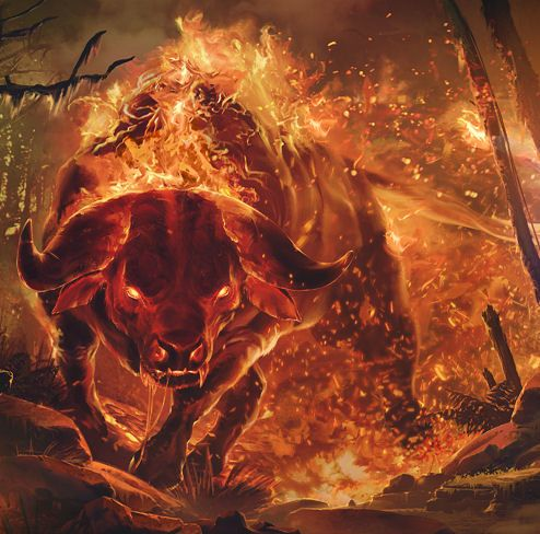 Demon bull raging with fire brutal en 2019 pinterest - Raging demon symbol ...