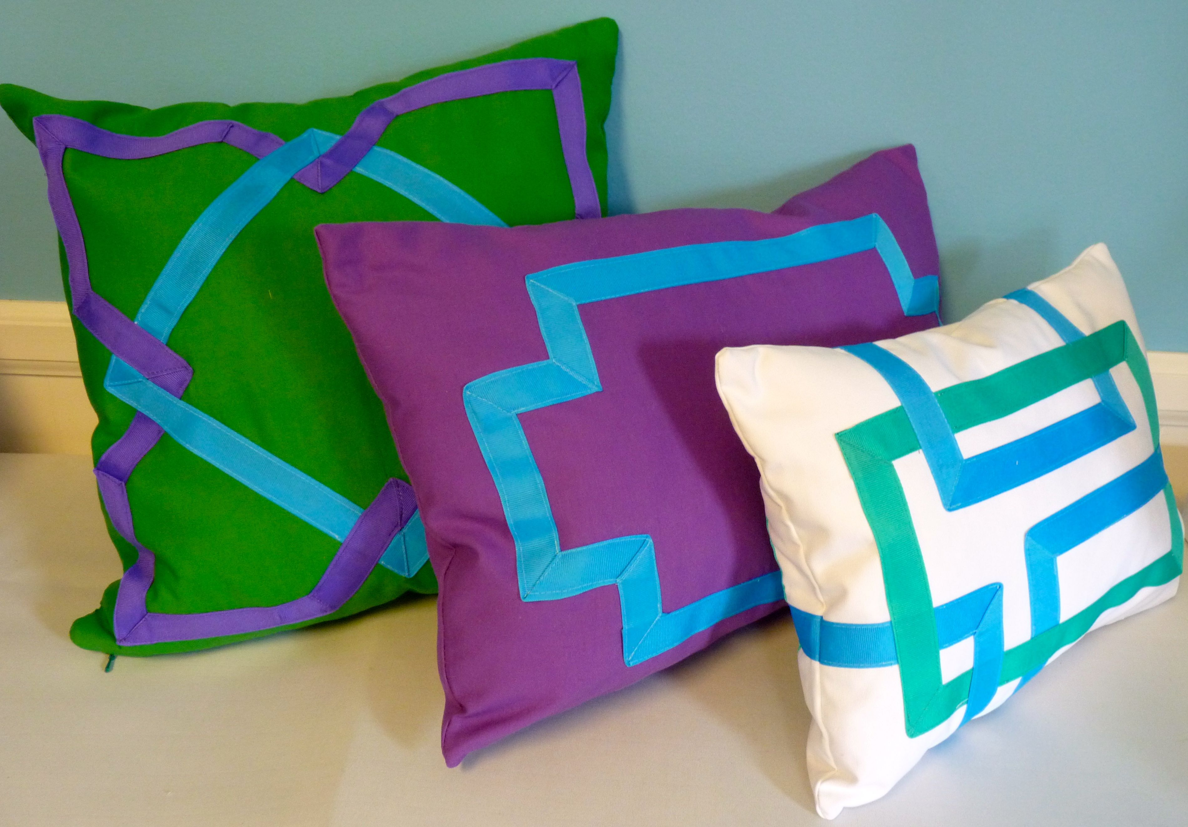 Ribbon design pillows by susan woodcock homedecgal pillows