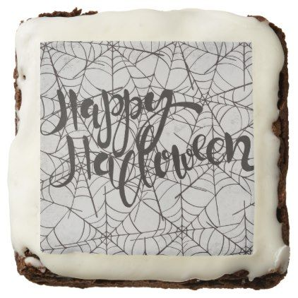 Cobwebs Happy Halloween Brownie | Zazzle.com #halloweenbrownies