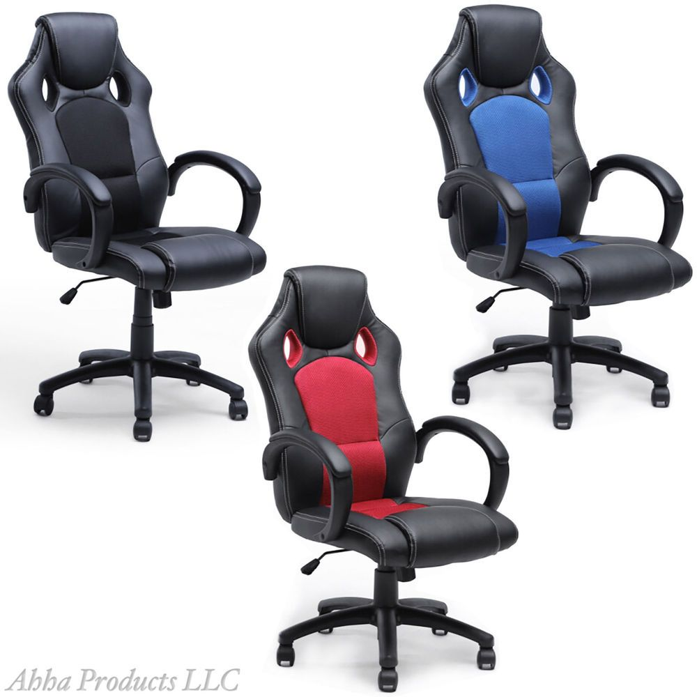 adjustable hydraulic high back ergonomic office chair bucket seat swivel leather