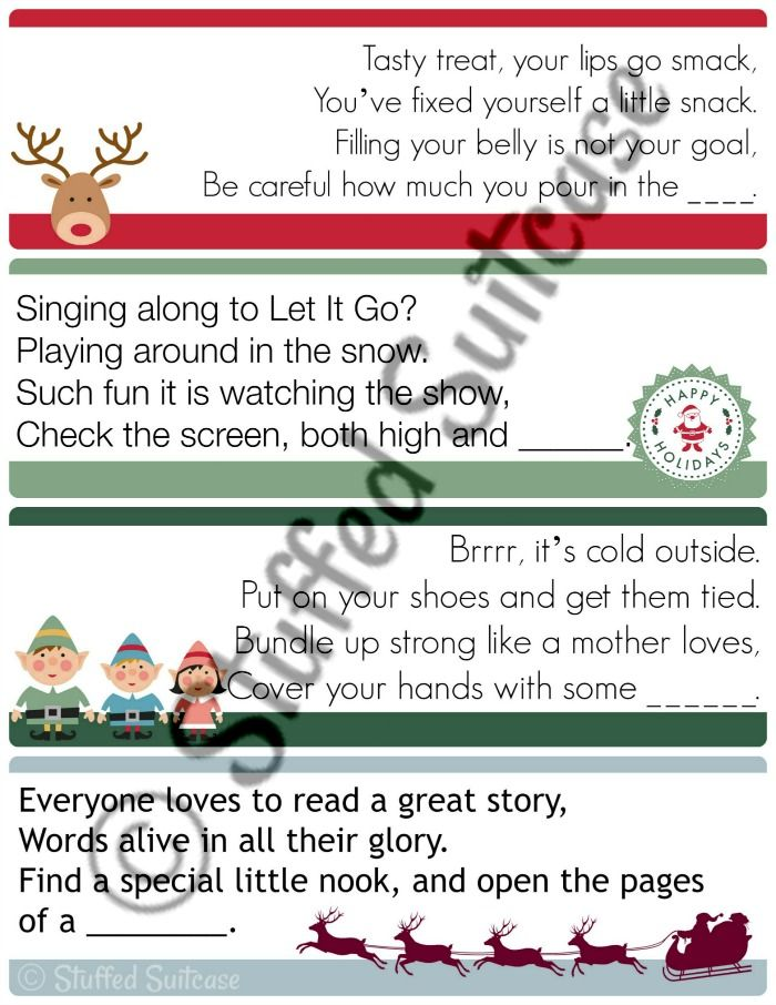 Christmas Scavenger Hunt Clues - More Family Tradition Fun ...