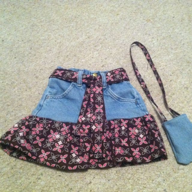Skirt and purse I made for my daughter