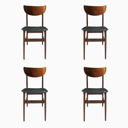 Dänische Palisander Esszimmerstühle, 1960er, 4er Set Jetzt Bestellen   Esszimmer  Braun Grun