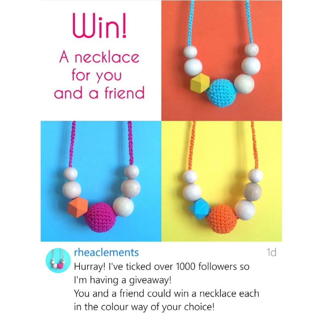 Win a necklace for you and a friend! Pop over to my profile for the competition post #craftsposure #handsandhustle #nottingham #creativebiz #lifeofacreative #lifeofacrocheter #designermaker #buyhandmade #handmadelife #abmlifeiscolorful