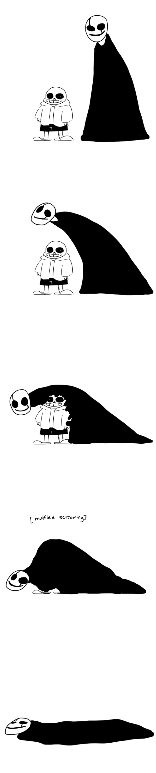 Why am I Laughing?XD>>>>because Gaster just glomped Sans