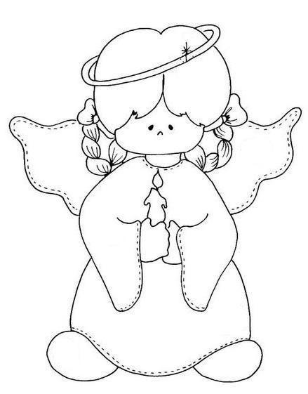 Angelitos Ninos Para Colorear Buscar Con Google Desenhos De Anjos Paginas Para Colorir Natal Riscos Para Pintura