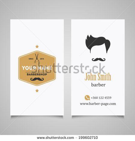Hair Salon Barber Shop Business Card Design Template Stock - Barber shop business card templates