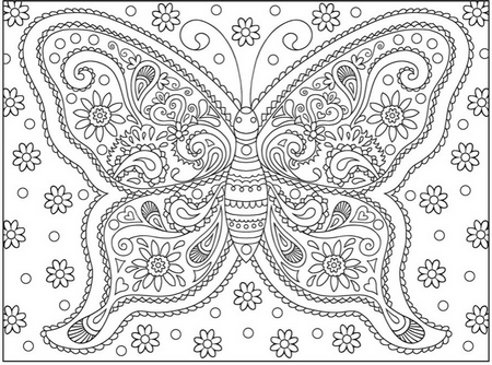 Adult Coloring Pages Flowers - coloring | Coloring Pages of all ...