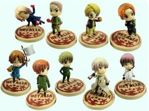 Axis Powers Hetalia mini PVC figures Japan 9 pcs