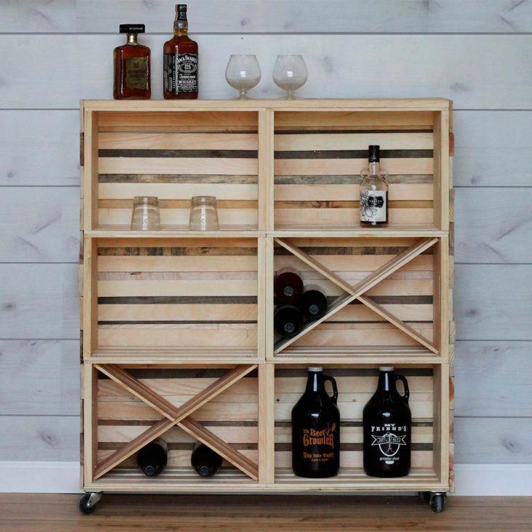 How To Build A Bar Cart With Crates The Family Handyman In 2020 Mit Bildern Diy Hausbar