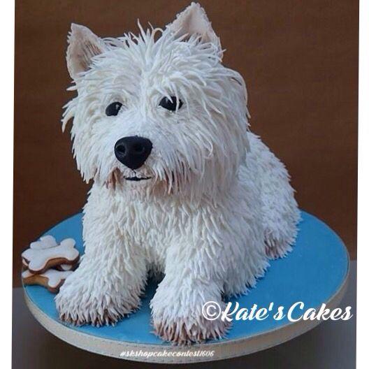 Westie birthday cake