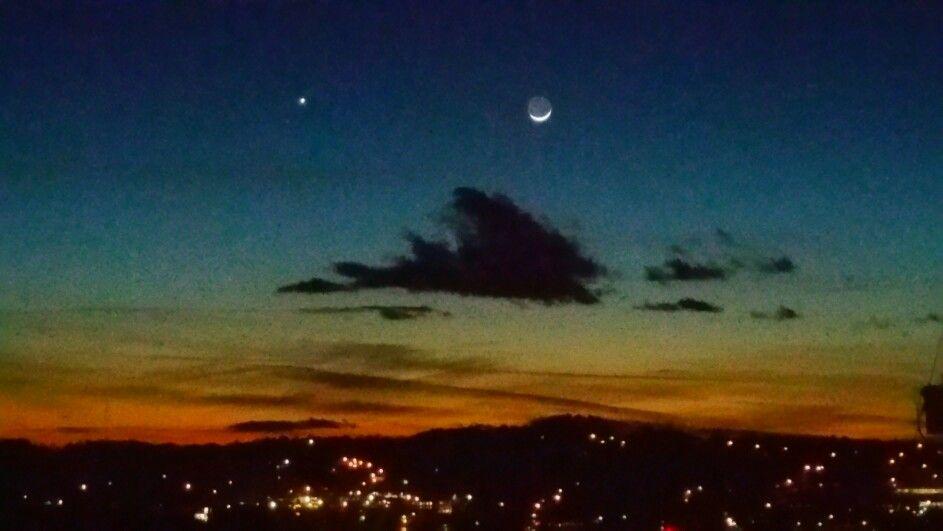 Evening sky over Galax, VA