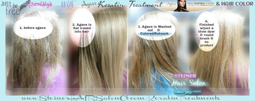Agave Keratin Treatment No Formaldehyde Wash Color Your Hair Same