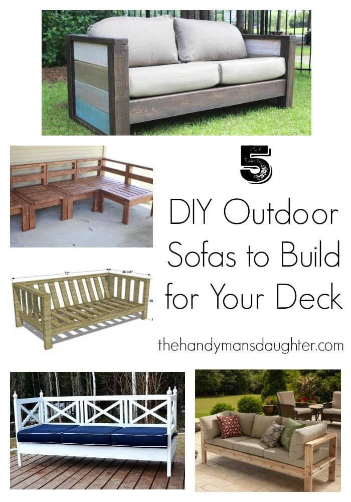The Price Of Outdoor Furniture Is Shocking But Building Your Own Simple Here Are 5 Great Sofas With Complete Plans To Get You Started