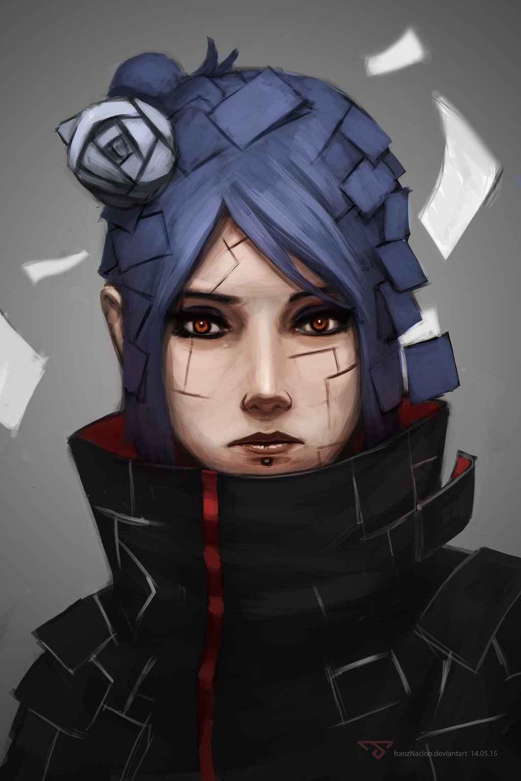 Konan Portrait By Franznacion With Images Anime Konan Anime