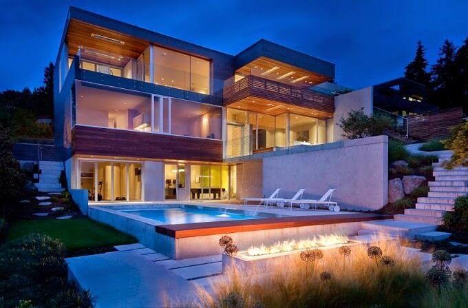 35 fotos de fachadas de casas modernas arquitexs casas for Casa moderna under 35