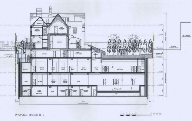 The four-storey mansion hidden underground: 15 bedrooms, 7 ... on london court floor plans, london office floor plans, london flat floor plans, london mews floor plans, london terrace floor plans,
