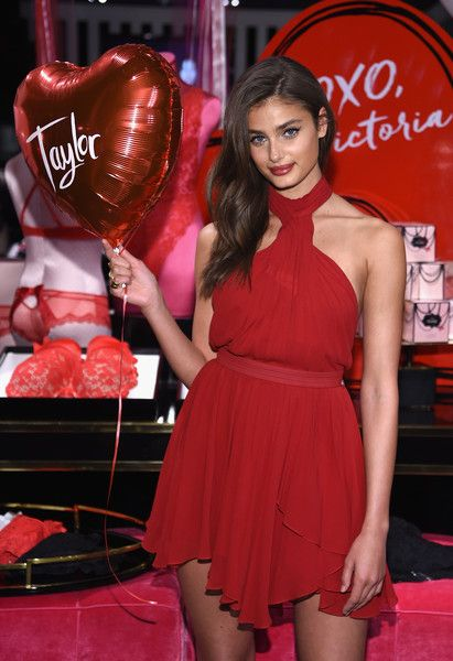 f606f2b8056 Model Taylor Hill poses as Victoria s Secret Angels Josephine Skriver