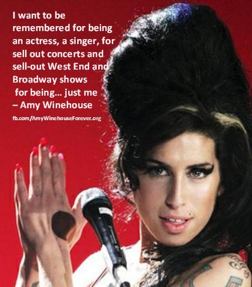 Amy Winehouse Quote About Life #Christmas #thanksgiving #Holiday #quote