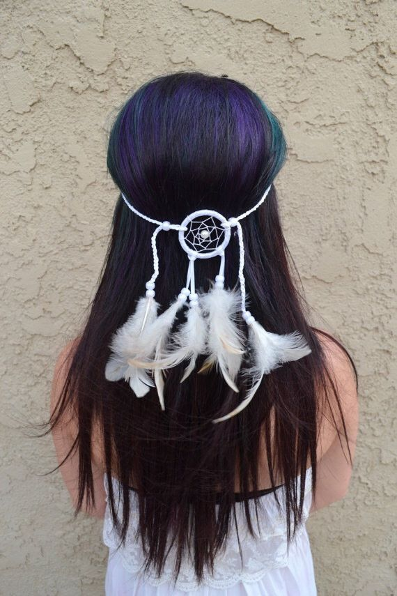 All White Dreamcatcher Headband – VividBloom