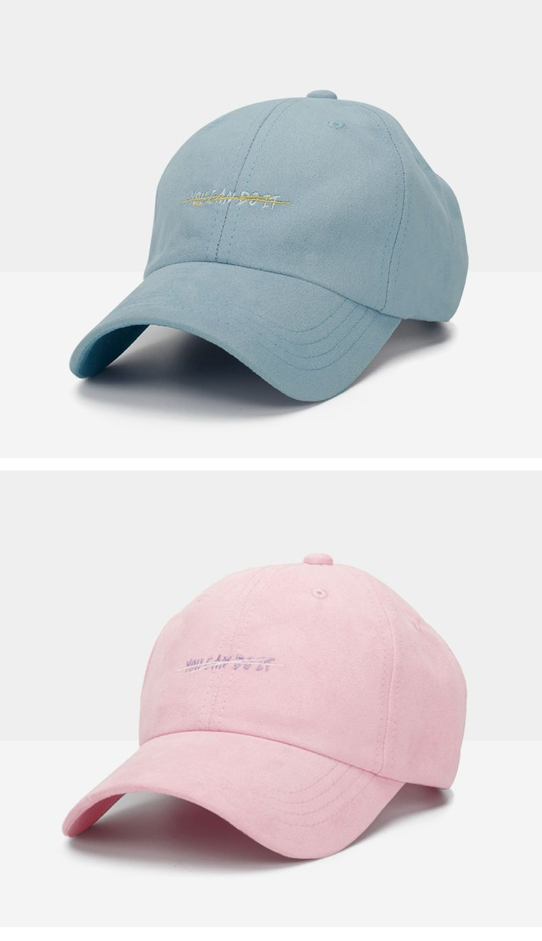 475bb3d618c Muchique Suede Cap Pink Bad Hair Day Cap Autumn Man Hat Womens Fall Hats  Embroidered Baseball