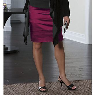 Awesome tiered stretch satin skirt. LOVE the color.  - $80