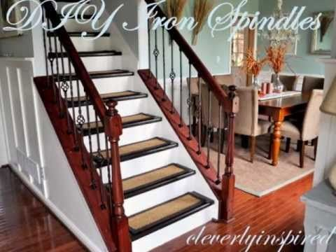 How To Install Iron Spindles Update Your Stairs Video Diy Staircase Remodel
